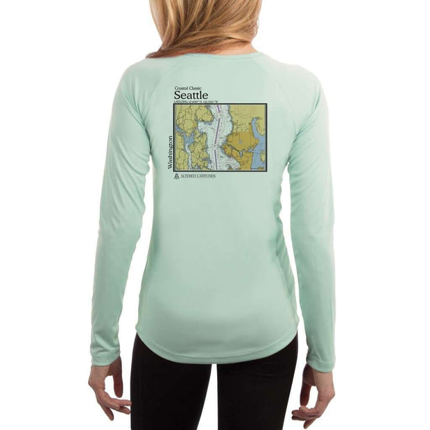 Coastal Classics Seattle Womens Upf 5+ Uv/sun Protection Performance T-Shirt Seagrass / X-Small Shirt