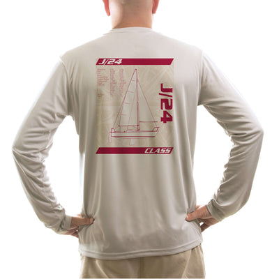 J/24 Class Sailboat Men's UPF 50+ Long Sleeve T-Shirt - Altered Latitudes