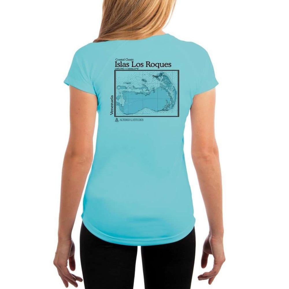 Coastal Classics Islas Los Roques Womens Upf 5+ Uv/sun Protection Performance T-Shirt Water Blue / X-Small Shirt