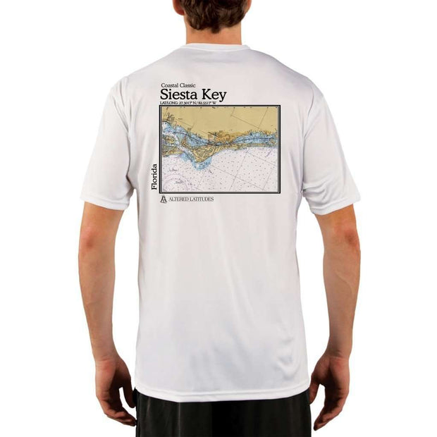 Coastal Classics Siesta Key Mens Upf 5+ Uv/sun Protection Performance T-Shirt White / X-Small Shirt
