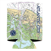 Altered Latitudes Atlantic City, NJ Chart Standard Can Cooler (4-Pack)