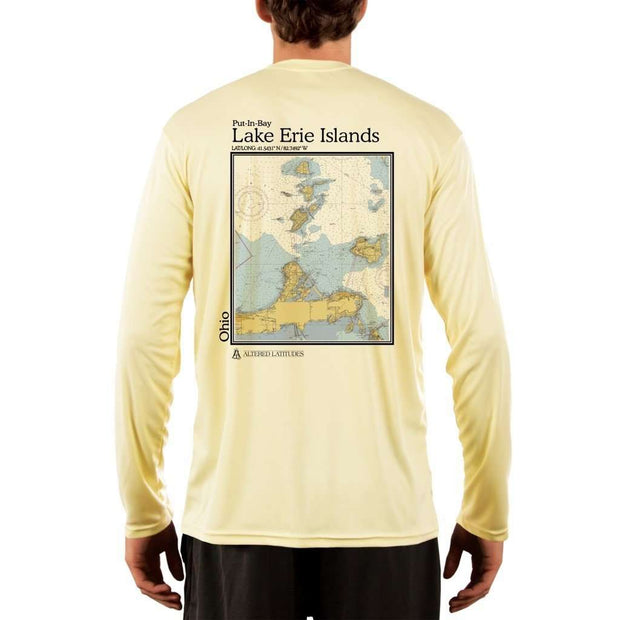 Coastal Classics Lake Erie Islands Mens Upf 5+ Uv/sun Protection Performance T-Shirt Pale Yellow / X-Small Shirt
