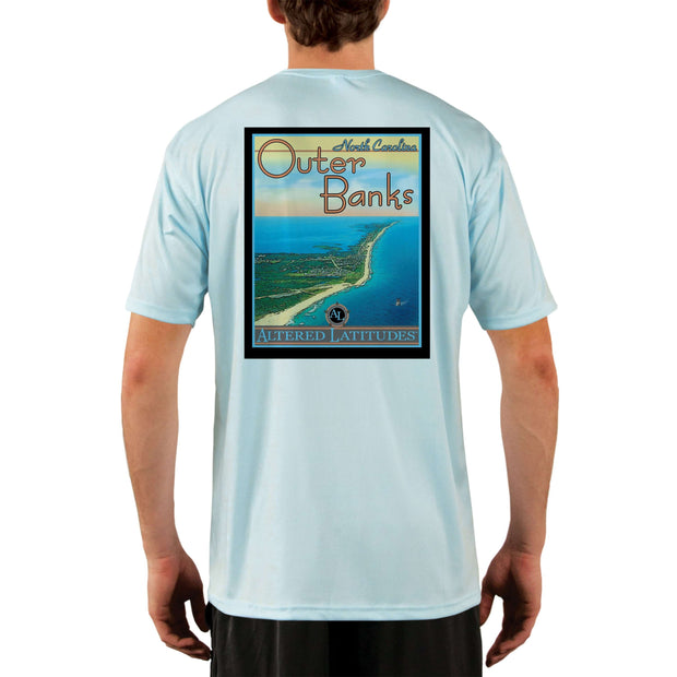 Vintage Destination Outer Banks Men's UPF 5+ UV Sun Protection Short Sleeve T-shirt - Altered Latitudes