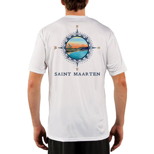 Compass Vintage Saint Maarten Men's UPF 50+ Short Sleeve T-shirt