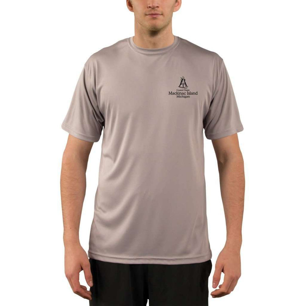 Coastal Classics Mackinac Island Mens Upf 5+ Uv/sun Protection Performance T-Shirt Shirt