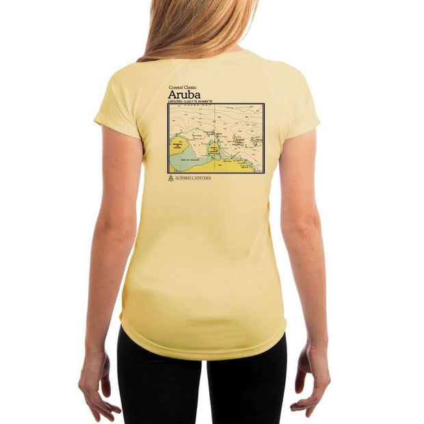 Coastal Classics Aruba Womens Upf 5+ Uv/sun Protection Performance T-Shirt Pale Yellow / X-Small Shirt
