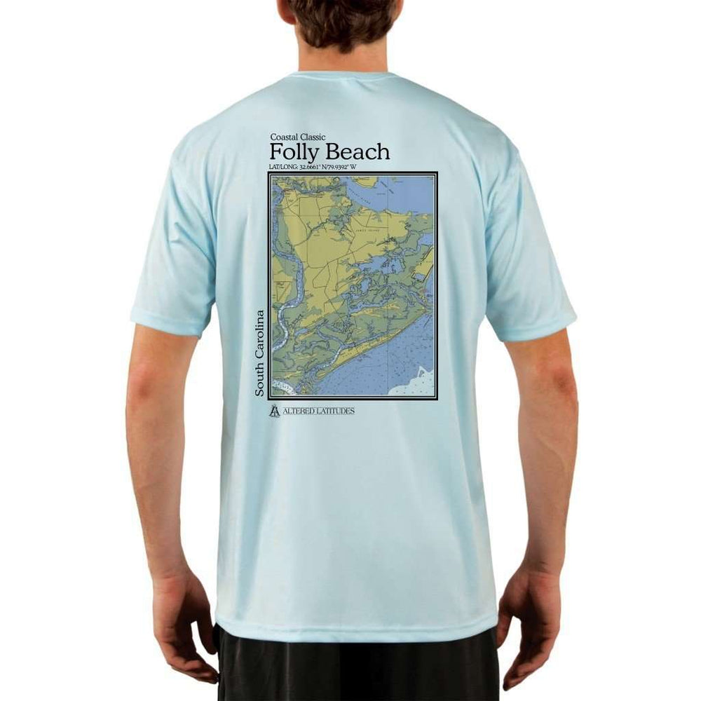 Coastal Classics Folly Beach Mens Upf 5+ Uv/sun Protection Performance T-Shirt Arctic Blue / X-Small Shirt