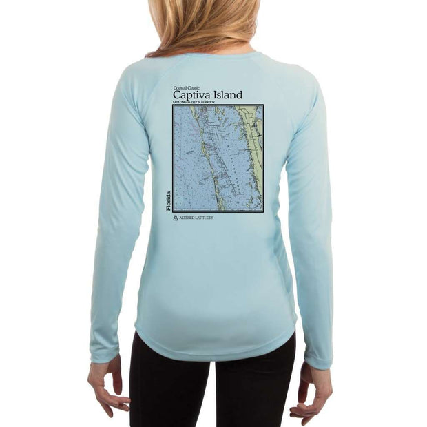 Coastal Classics Captiva Island Womens Upf 5+ Uv/sun Protection Performance T-Shirt Arctic Blue / X-Small Shirt