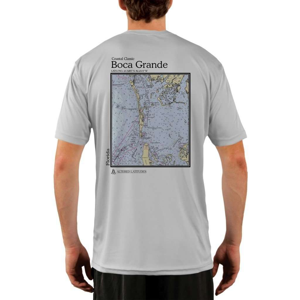 Coastal Classics Boca Grande Mens Upf 50+ Uv/sun Protection Performance T-Shirt Pearl Grey / X-Small Shirt