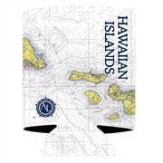 Altered Latitudes Hawaiian Islands Chart Standard Can Cooler (4-Pack)