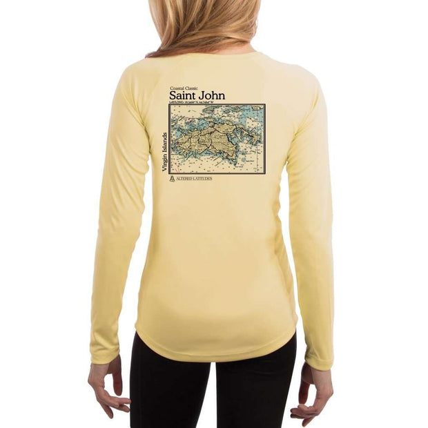 Coastal Classics Saint John Womens Upf 5+ Uv/sun Protection Performance T-Shirt Pale Yellow / X-Small Shirt
