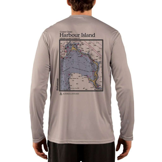 Coastal Classics Harbour Island Mens Upf 5+ Uv/sun Protection Performance T-Shirt Athletic Grey / X-Small Shirt