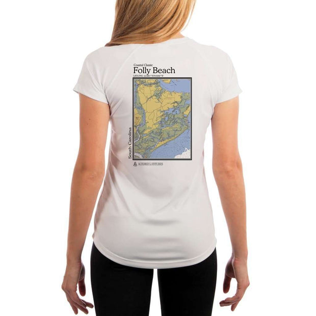 Coastal Classics Folly Beach Womens Upf 5+ Uv/sun Protection Performance T-Shirt White / X-Small Shirt
