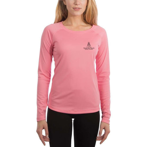 Coastal Classics Ocean Isle Beach Womens Upf 5+ Uv/sun Protection Performance T-Shirt Shirt