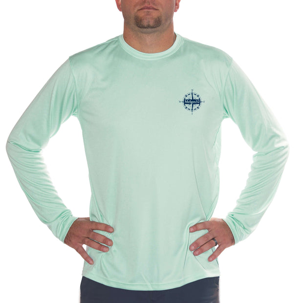Melges 32 Class Sailboat Men's UPF 50+ UV/Sun Protection Long Sleeve T-Shirt - Altered Latitudes