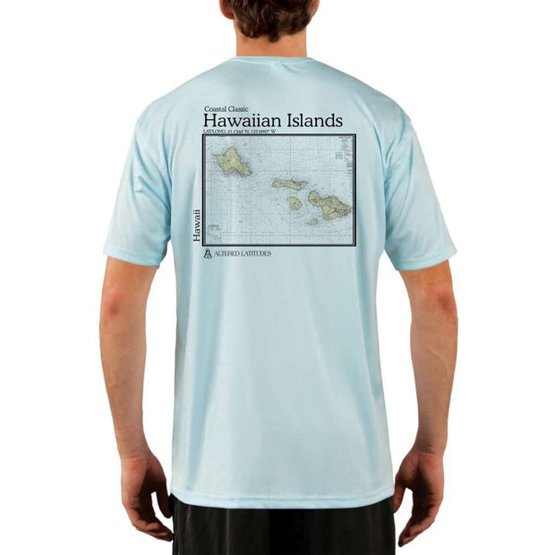 Coastal Classics Hawaiian Islands Mens Upf 5+ Uv/sun Protection Performance T-Shirt Arctic Blue / X-Small Shirt