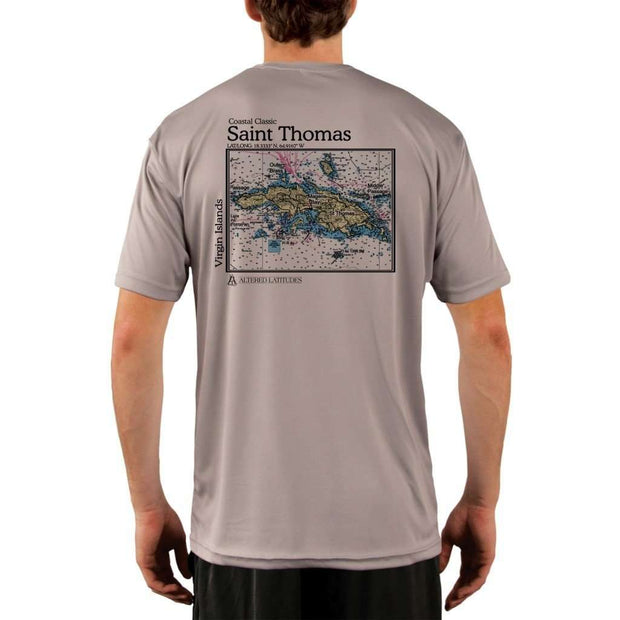 Coastal Classics Saint Thomas Mens Upf 5+ Uv/sun Protection Performance T-Shirt Athletic Grey / X-Small Shirt