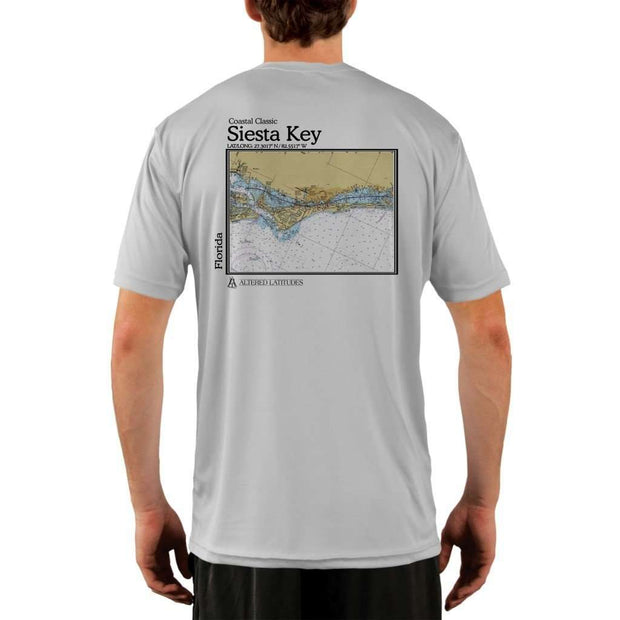 Coastal Classics Siesta Key Mens Upf 5+ Uv/sun Protection Performance T-Shirt Pearl Grey / X-Small Shirt