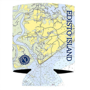 Altered Latitudes Edisto Island Chart Standard Can Cooler (4-Pack)