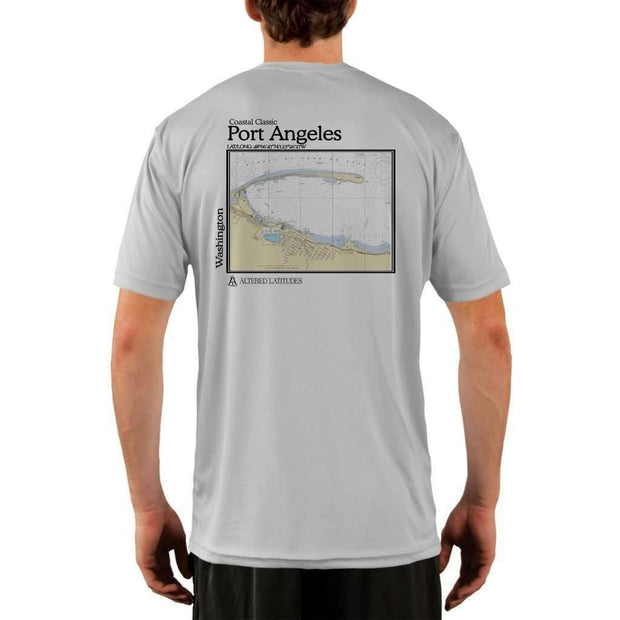 Coastal Classics Port Angeles Mens Upf 5+ Uv/sun Protection Performance T-Shirt Pearl Grey / X-Small Shirt