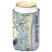 Altered Latitudes Amelia Island Chart Standard Can Cooler (4-Pack)