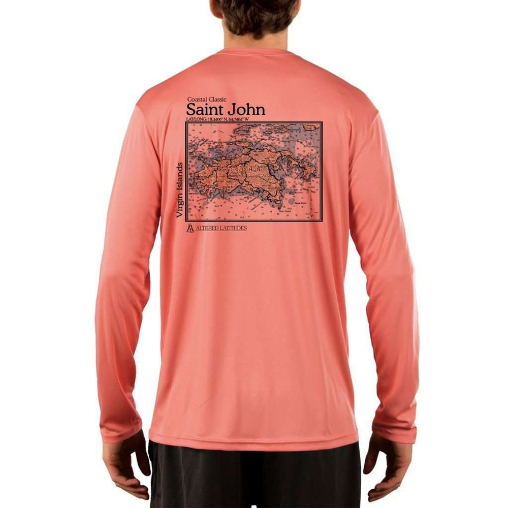 Coastal Classics Saint John Mens Upf 5+ Uv/sun Protection Performance T-Shirt Salmon / X-Small Shirt