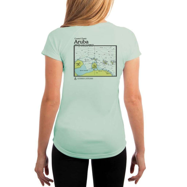 Coastal Classics Aruba Womens Upf 5+ Uv/sun Protection Performance T-Shirt Seagrass / X-Small Shirt
