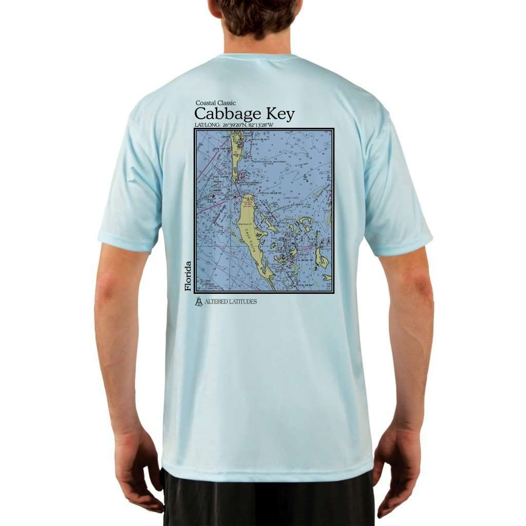 Coastal Classics Cabbage Key Mens Upf 50+ Uv/sun Protection Performance T-Shirt Arctic Blue / X-Small Shirt