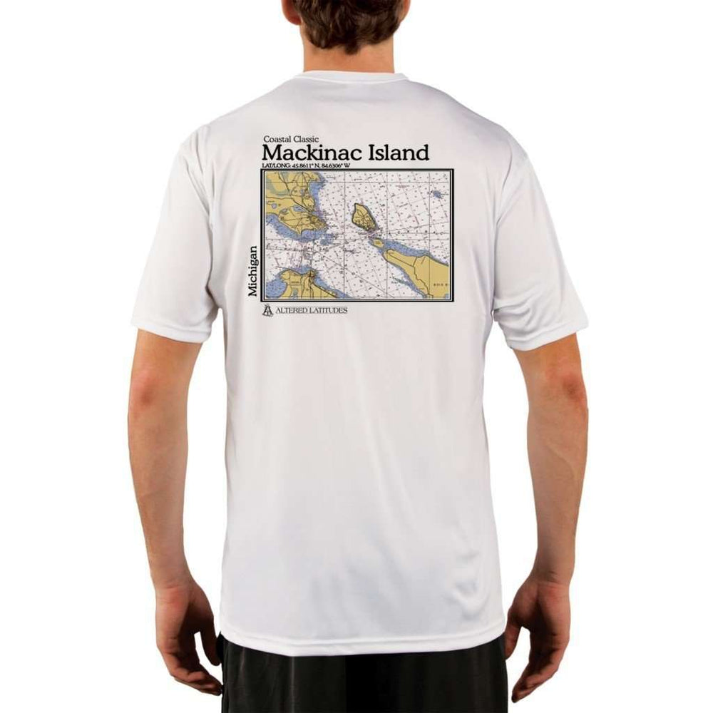 Coastal Classics Mackinac Island Mens Upf 5+ Uv/sun Protection Performance T-Shirt White / X-Small Shirt