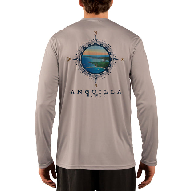 Compass Vintage Anguilla Men's UPF 50+ Long Sleeve T-Shirt