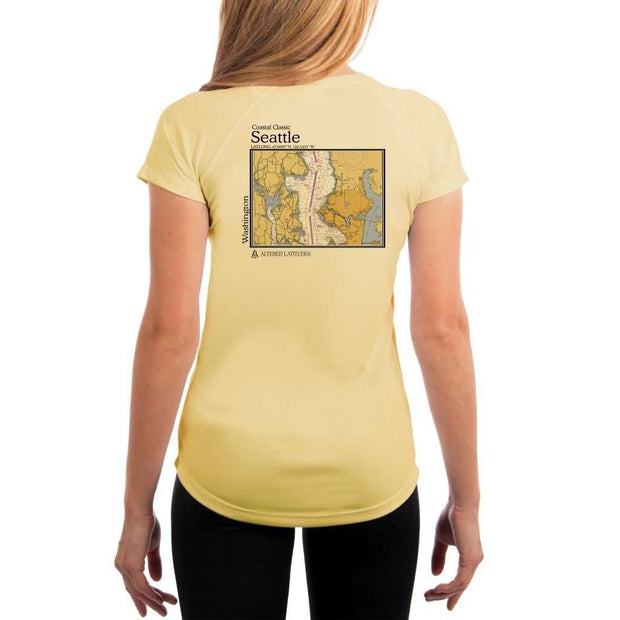 Coastal Classics Seattle Womens Upf 5+ Uv/sun Protection Performance T-Shirt Pale Yellow / X-Small Shirt