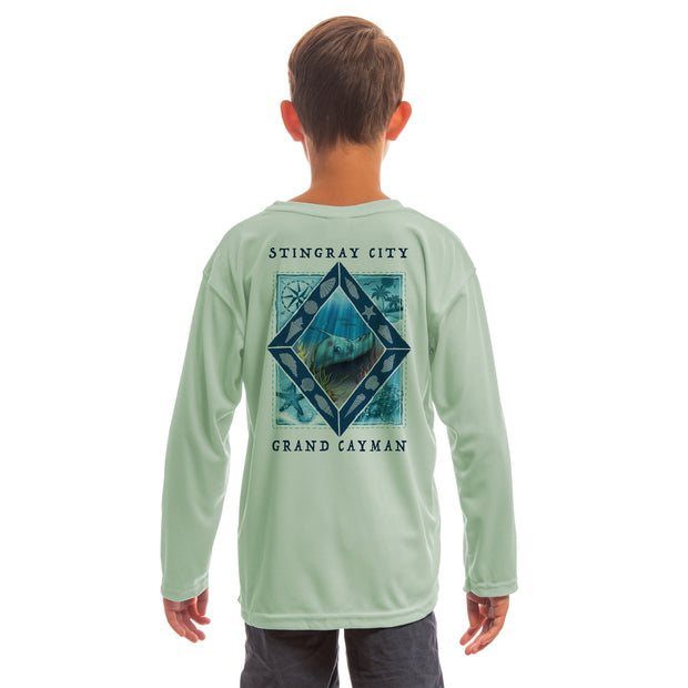 Coastal Quads Grand Cayman Youth UPF 50+ UV/Sun Protection Long Sleeve T-Shirt