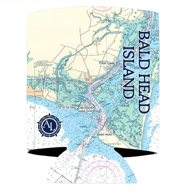 Altered Latitudes Bald Head Island Chart Standard Can Cooler (4-Pack)