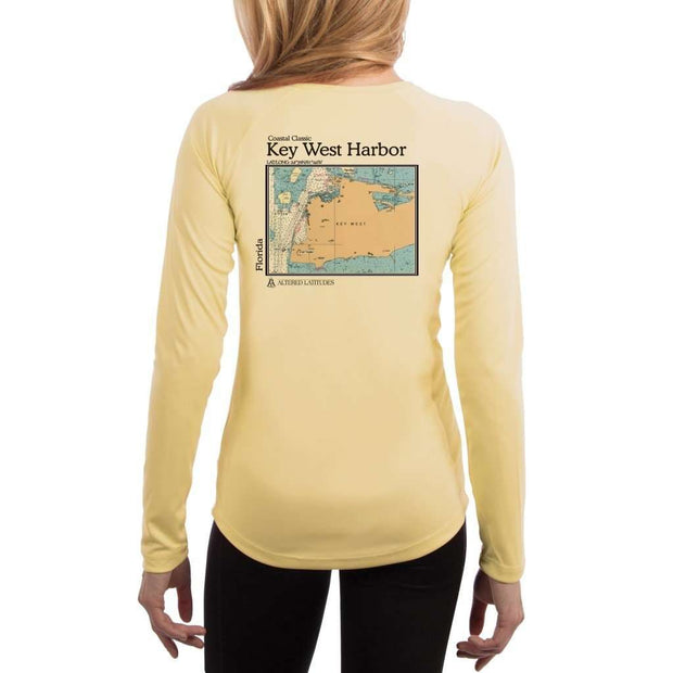 Coastal Classics Key West Harbor Womens Upf 5+ Uv/sun Protection Performance T-Shirt Pale Yellow / X-Small Shirt