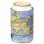 Altered Latitudes Boca Chica Chart Standard Can Cooler (4-Pack)
