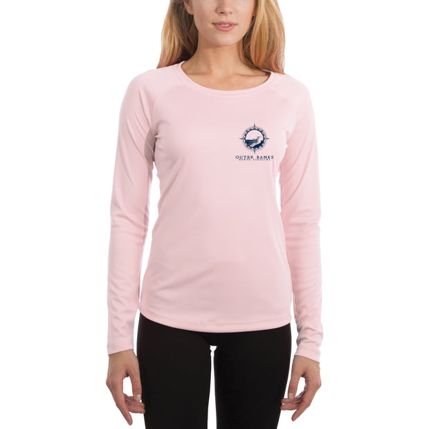 Compass Vintage Outer Banks Women's UPF 50+ Long Sleeve T-shirt