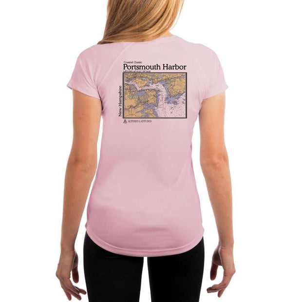 Coastal Classics Portsmouth Harbor Womens Upf 5+ Uv/sun Protection Performance T-Shirt Pink Blossom / X-Small Shirt