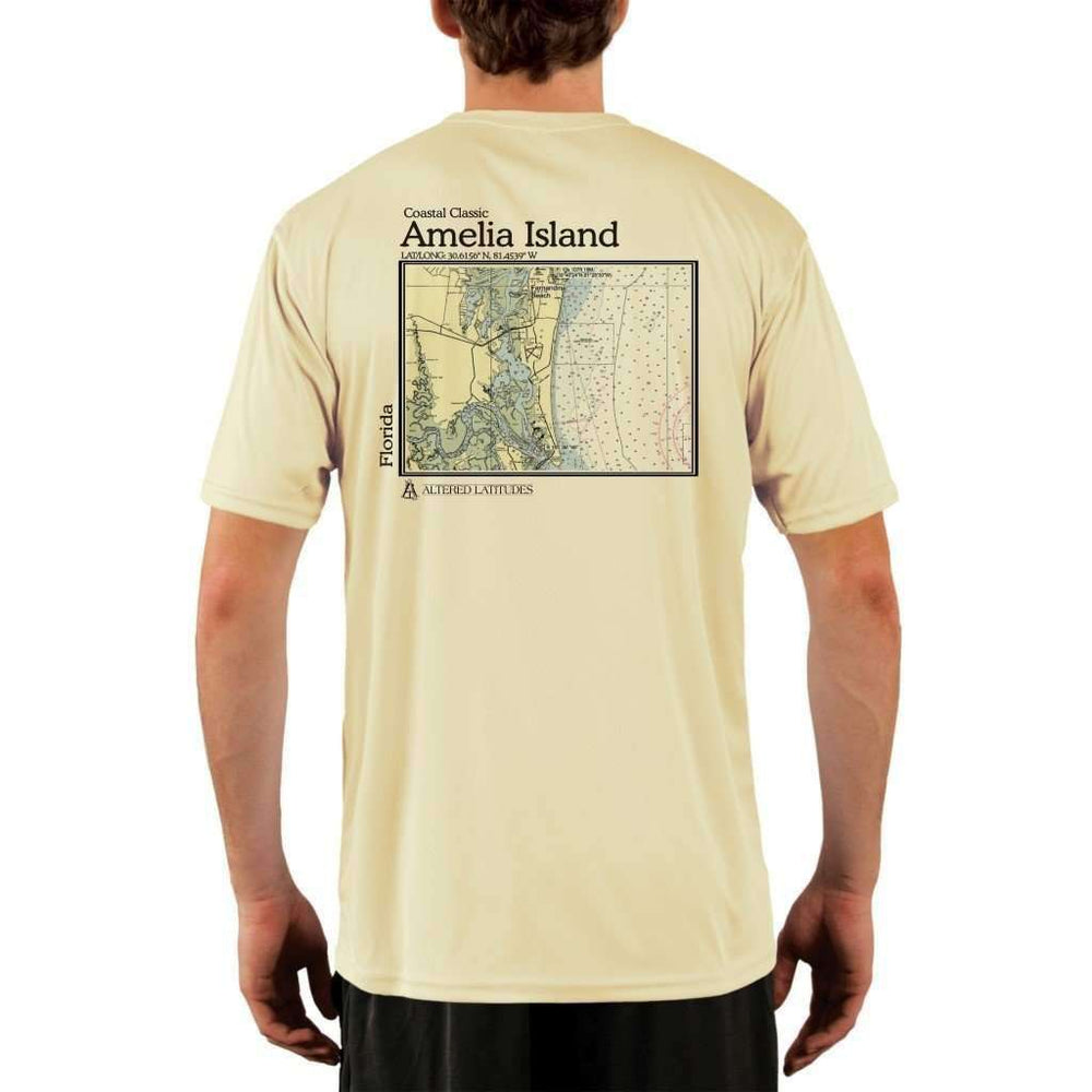 Coastal Classics Amelia Island Mens Upf 5+ Uv/sun Protection Performance T-Shirt Pale Yellow / X-Small Shirt