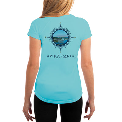Compass Vintage Annapolis Women's UPF 50+ Short Sleeve T-shirt