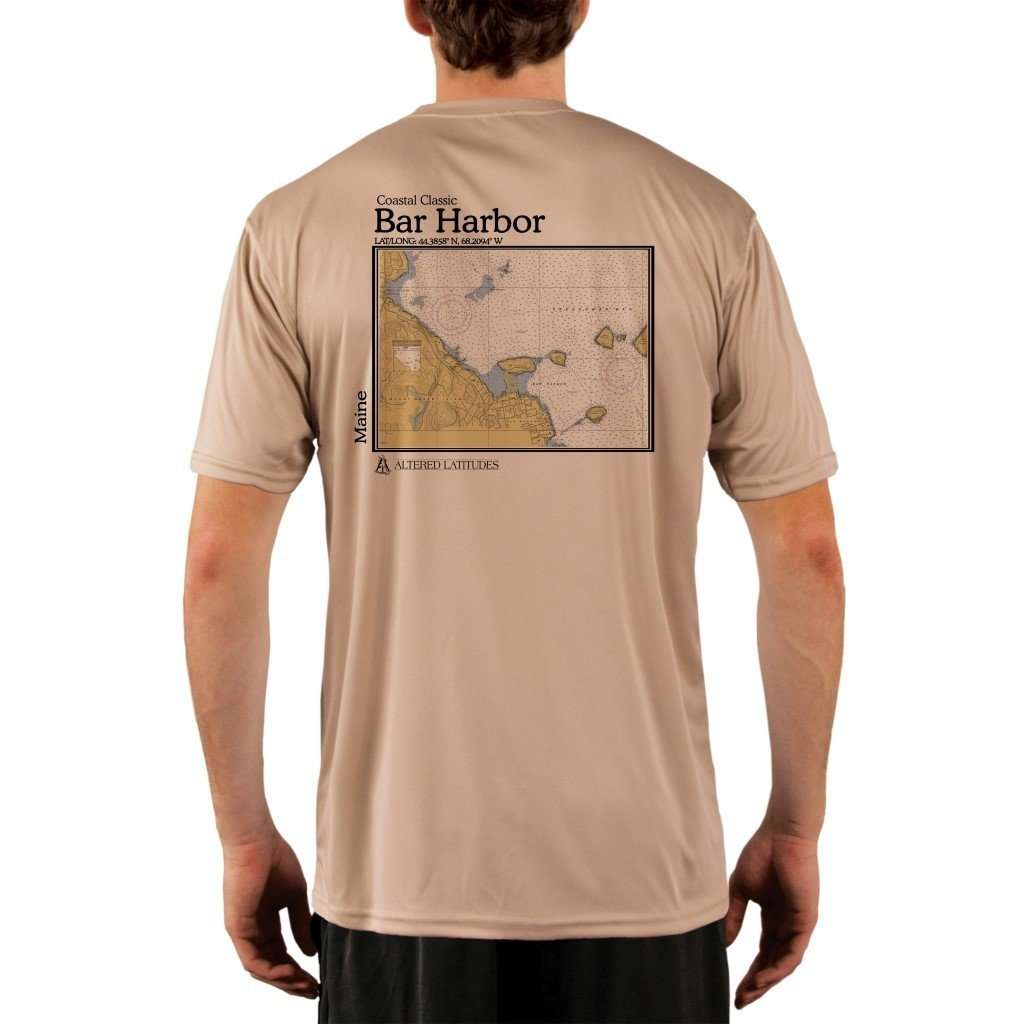 Coastal Classics Bar Harbor Mens Upf 50+ Uv/sun Protection Performance T-Shirt Tan / X-Small Shirt
