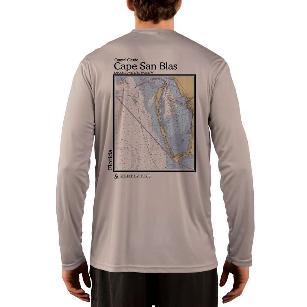 Coastal Classics Cape San Blas Mens Upf 50+ Uv/sun Protection Performance T-Shirt Athletic Grey / X-Small Shirt