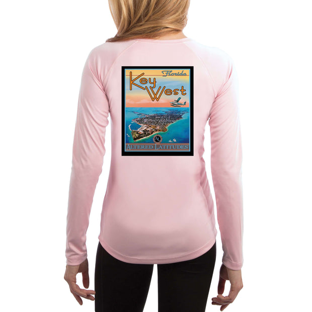 Vintage Destination Key West Women's UPF 50+ UV Sun Protection Long Sleeve T-shirt