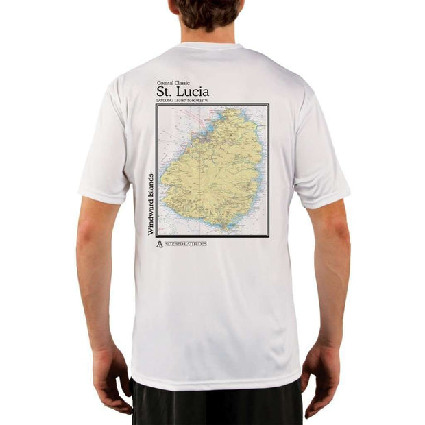 Coastal Classics St. Lucia Mens Upf 5+ Uv/sun Protection Performance T-Shirt White / X-Small Shirt