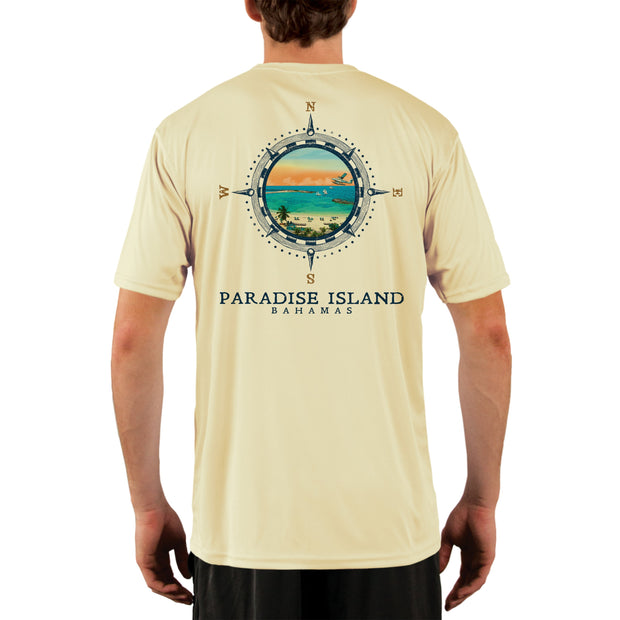Compass Vintage Paradise Island Men's UPF 50+ Short Sleeve T-shirt