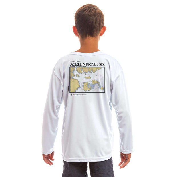Coastal Classics Acadia National Park Youth UPF 50+ UV/Sun Protection Long Sleeve T-Shirt - Altered Latitudes