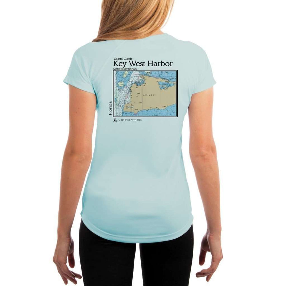Coastal Classics Key West Harbor Womens Upf 5+ Uv/sun Protection Performance T-Shirt Arctic Blue / X-Small Shirt
