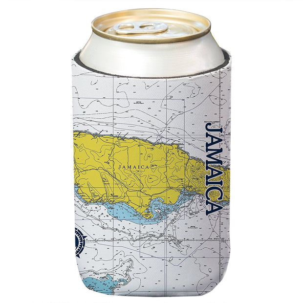 Altered Latitudes Jamaica Chart Standard Can Cooler (4-Pack)