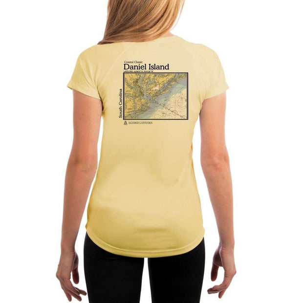 Coastal Classics Daniel Island Womens Upf 5+ Uv/sun Protection Performance T-Shirt Pale Yellow / X-Small Shirt