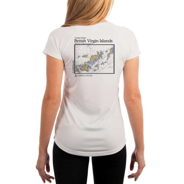 Coastal Classics British Virgin Islands Womens Upf 5+ Uv/sun Protection Performance T-Shirt White / X-Small Shirt