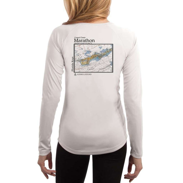 Coastal Classics Marathon Womens Upf 5+ Uv/sun Protection Performance T-Shirt White / X-Small Shirt
